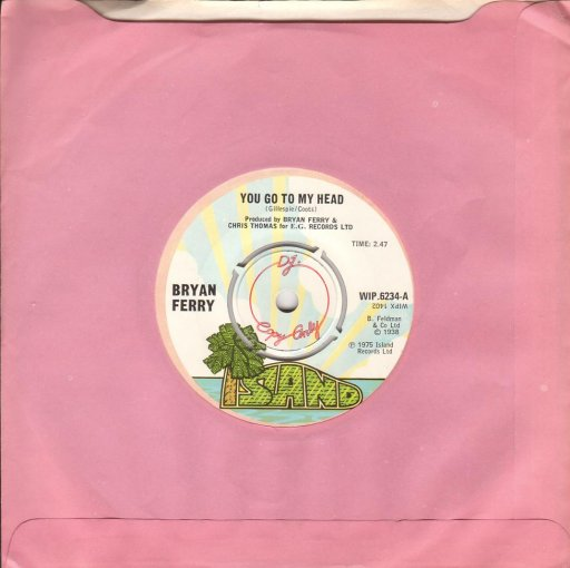 Brian Ferry - You go to my head / Remake / Remodel - 45T SP 2 titres