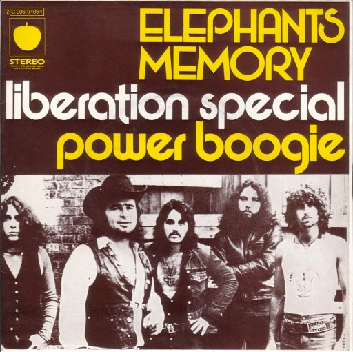 Elephants Memory - Liberation special / Power boogie - 45T SP 2 titres